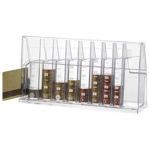 Euro Sort money box transparent