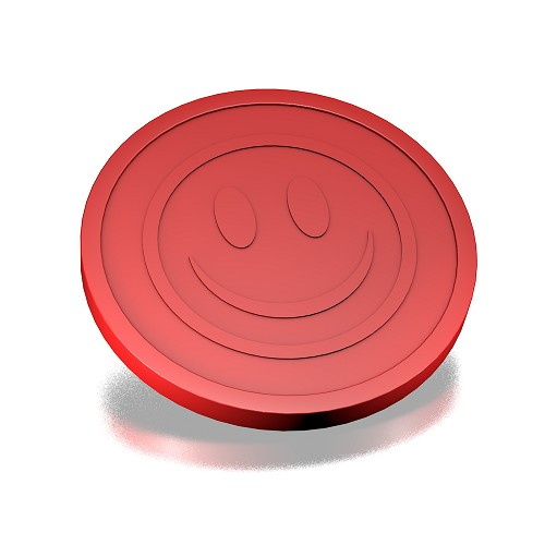 29 mm smiley rood