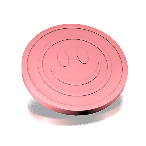 29 mm smiley roze