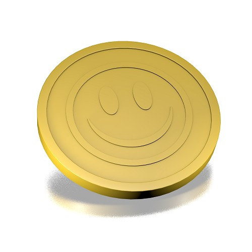 29mm smiley goud