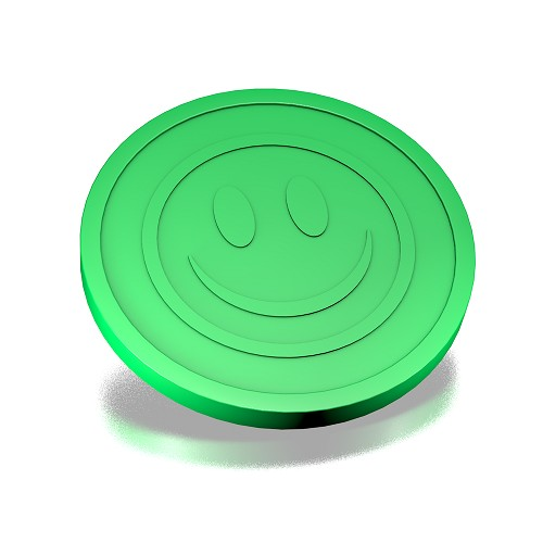29 mm smiley fluogroen