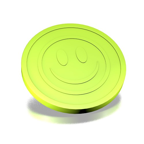 29 mm smiley lime groen