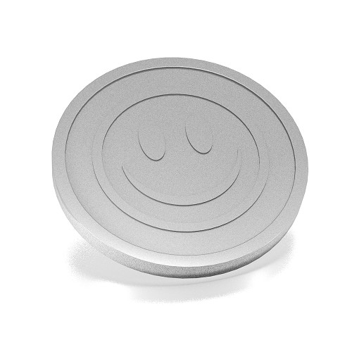 29 mm smiley zilver grijs