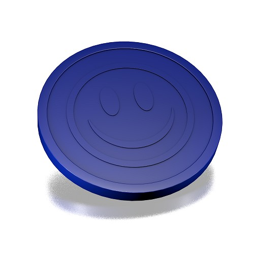 29 mm smiley Donker blauw
