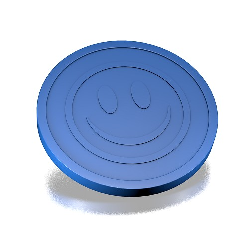 29 mm smiley Konings blauw