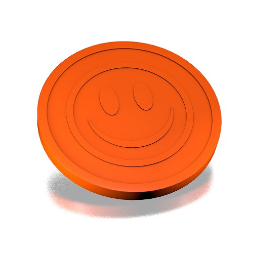 Oranje smiley munten 23mm
