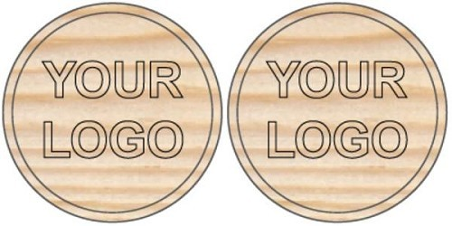 Mal costs Wooden coin with 2 different own designs.