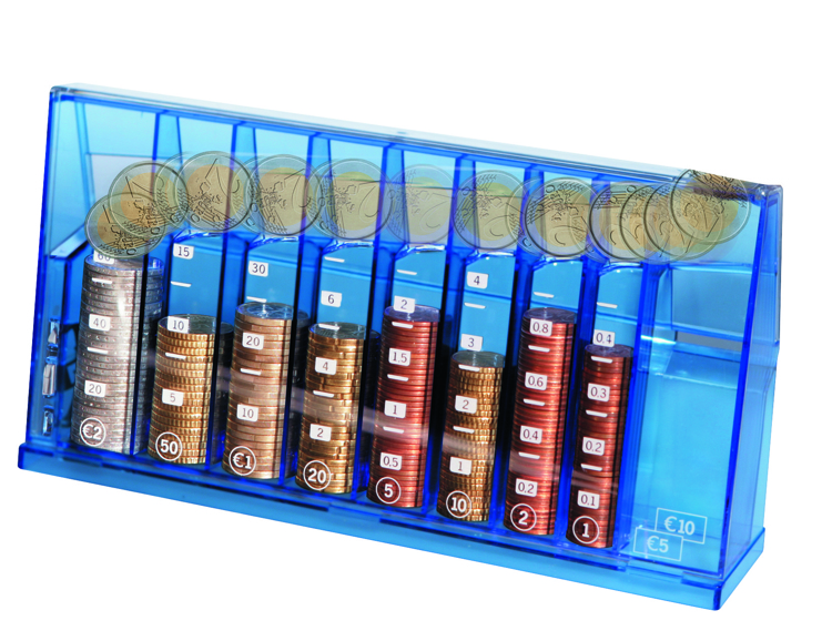 Euro money box blue transparent