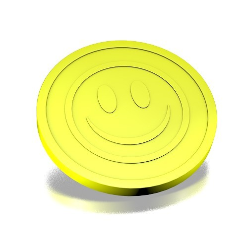 fluor yellow 23mm coins