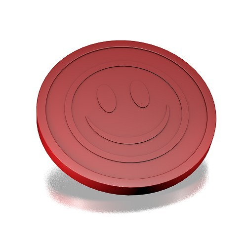 ECO Munt smiley Reliëf Bordeaux rood