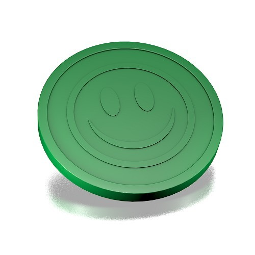 Dark green smiley coins 29mm
